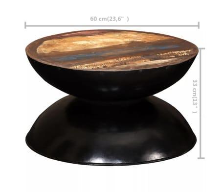 vidaXL Kavos staliukas, perdirbta med. mas., juod. pagr., 60x60x33cm[12/12]