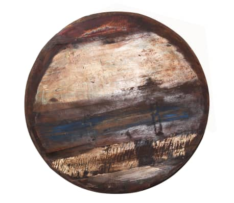vidaXL Kavos staliukas, perdirbta med. mas., juod. pagr., 60x60x33cm[4/12]