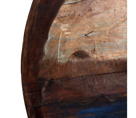 vidaXL Kavos staliukas, perdirbta med. mas., juod. pagr., 60x60x33cm[6/12]