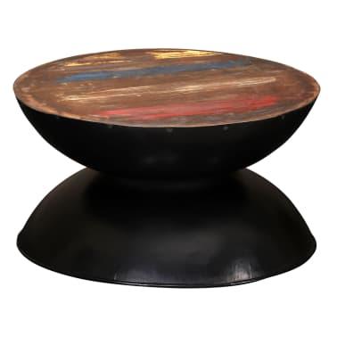vidaXL Kavos staliukas, perdirbta med. mas., juod. pagr., 60x60x33cm[11/12]