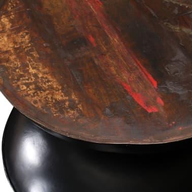 vidaXL Kavos staliukas, perdirbta med. mas., juod. pagr., 60x60x33cm[5/12]