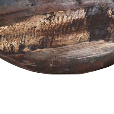 vidaXL Kavos staliukas, perdirbta med. mas., juod. pagr., 60x60x33cm[7/12]