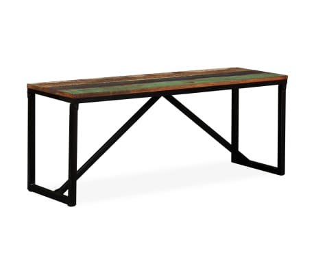 vidaXL Suoliukas, masyvi perdirbta mediena, 110x35x45cm[7/12]