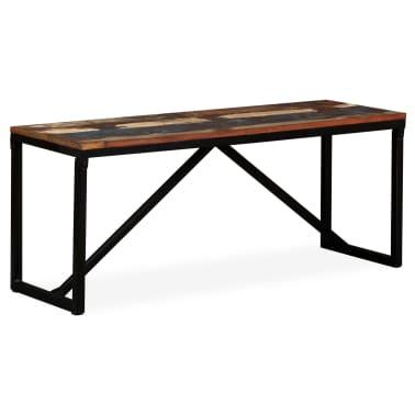 vidaXL Suoliukas, masyvi perdirbta mediena, 110x35x45cm[12/12]
