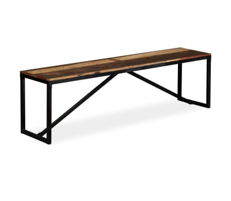 "vidaXL Bench Solid Reclaimed Wood 63""x13.8""x17.7"""