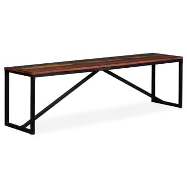 vidaXL Suoliukas, masyvi perdirbta mediena, 160x35x45cm[13/13]