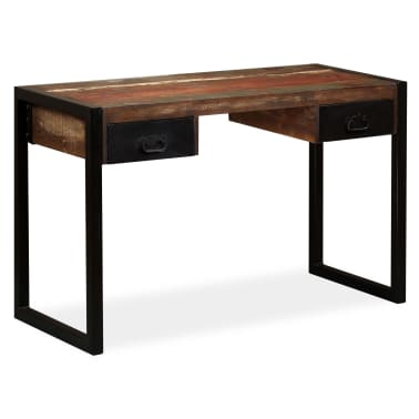 vidaXL Desk with 2 Drawers Solid Reclaimed Wood 120x50x76 cm[1/12]