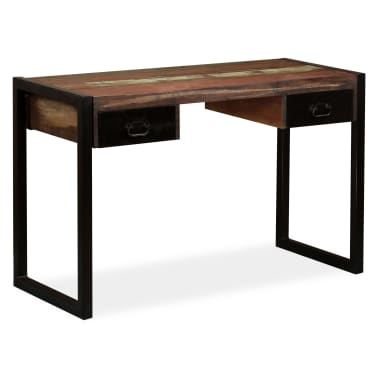 vidaXL Desk with 2 Drawers Solid Reclaimed Wood 120x50x76 cm[12/12]