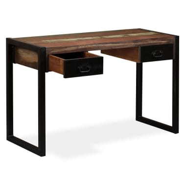 vidaXL Desk with 2 Drawers Solid Reclaimed Wood 120x50x76 cm[6/12]