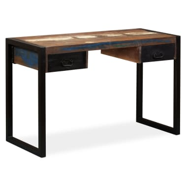 vidaXL Desk with 2 Drawers Solid Reclaimed Wood 120x50x76 cm[10/12]