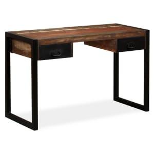 Skrivbord massivt sheshamträ 120x50x76 cm
