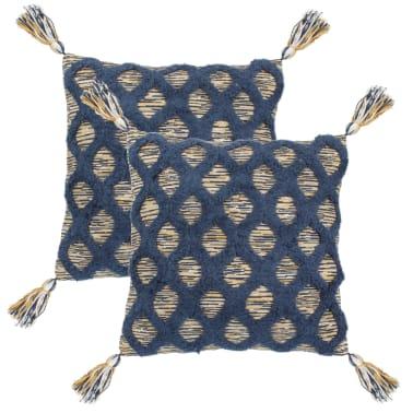 vidaXL Kuddar 2 st bohemisk 45x45 cm flerfärgad[1/4]