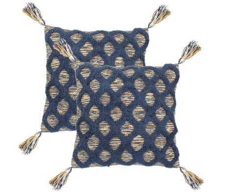 vidaXL Cojines de estampado bohemio 2 unidades 60x60 cm multicolor[1/4]