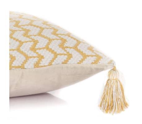 vidaXL 2 poduszki, 45x45 cm, styl boho, żółte[4/4]