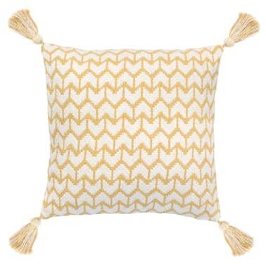 vidaXL 2 poduszki, 45x45 cm, styl boho, żółte[2/4]