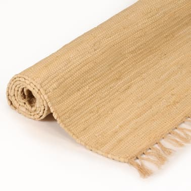 vidaxl handgewebter chindi teppich baumwolle 120x170 cm beige g nstig kaufen. Black Bedroom Furniture Sets. Home Design Ideas