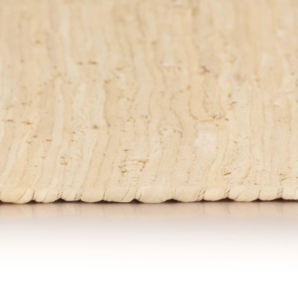 Handgewebter Chindi-Teppich Baumwolle 80x160 cm Anthrazit