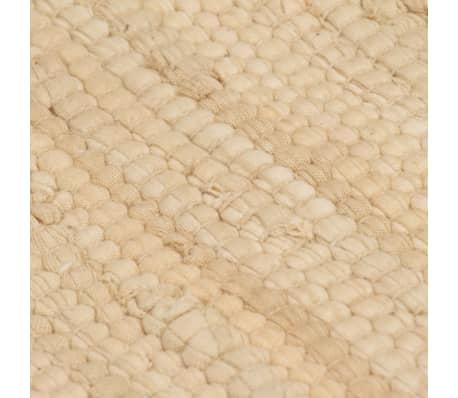 vidaxl handgewebter chindi teppich baumwolle 120x170 cm creme g nstig kaufen. Black Bedroom Furniture Sets. Home Design Ideas