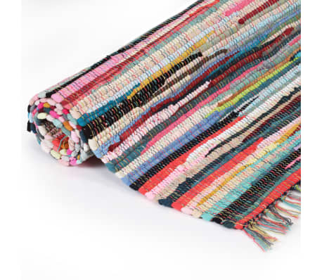 vidaXL håndvævet chindi-tæppe bomuld 200 x 290 cm flerfarvet[2/5]