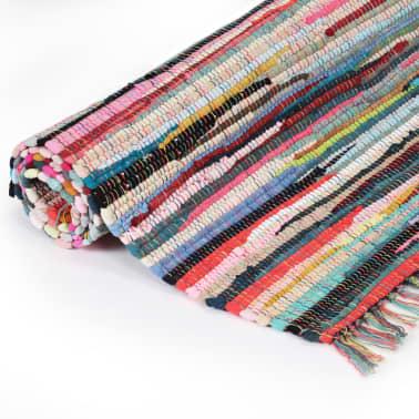 vidaxl handgewebter chindi teppich baumwolle 200x290 cm mehrfarbig g nstig kaufen. Black Bedroom Furniture Sets. Home Design Ideas