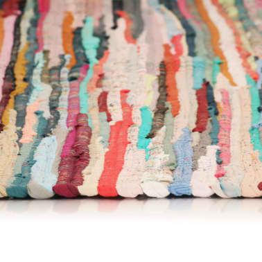 vidaXL håndvævet chindi-tæppe bomuld 200 x 290 cm flerfarvet[3/5]