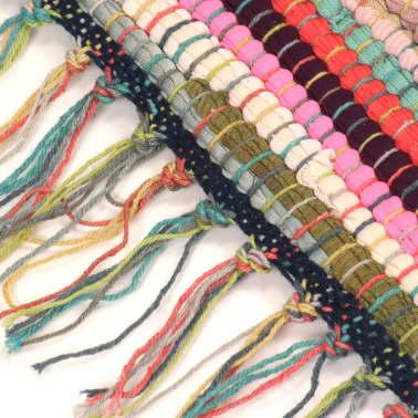 vidaXL håndvævet chindi-tæppe bomuld 200 x 290 cm flerfarvet[4/5]