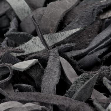vidaXL Shaggy-Teppich Echtleder 190 x 280 cm Grau[5/5]