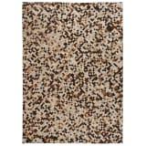 vidaXL Koberec z kúskov pravej kože, 160x230 cm, štvorec, hnedo-biely