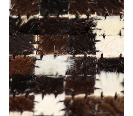 vidaxl teppich echtes leder patchwork 120 x 170 cm schwarz wei g nstig kaufen. Black Bedroom Furniture Sets. Home Design Ideas