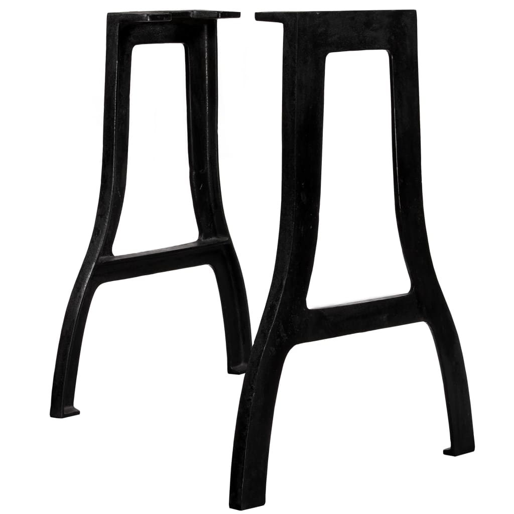 vidaXL Picioare masă de sufragerie 2 buc. Cadru în A Fontă imagine vidaxl.ro