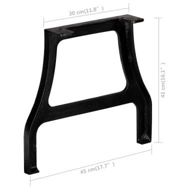 vidaXL Pied de table basse 2 pcs Cadre en A Fonte[10/10]