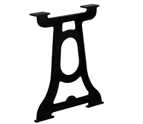 vidaXL Valgomojo stalo kojelės, 2vnt., Y-formos, ketaus[4/10]