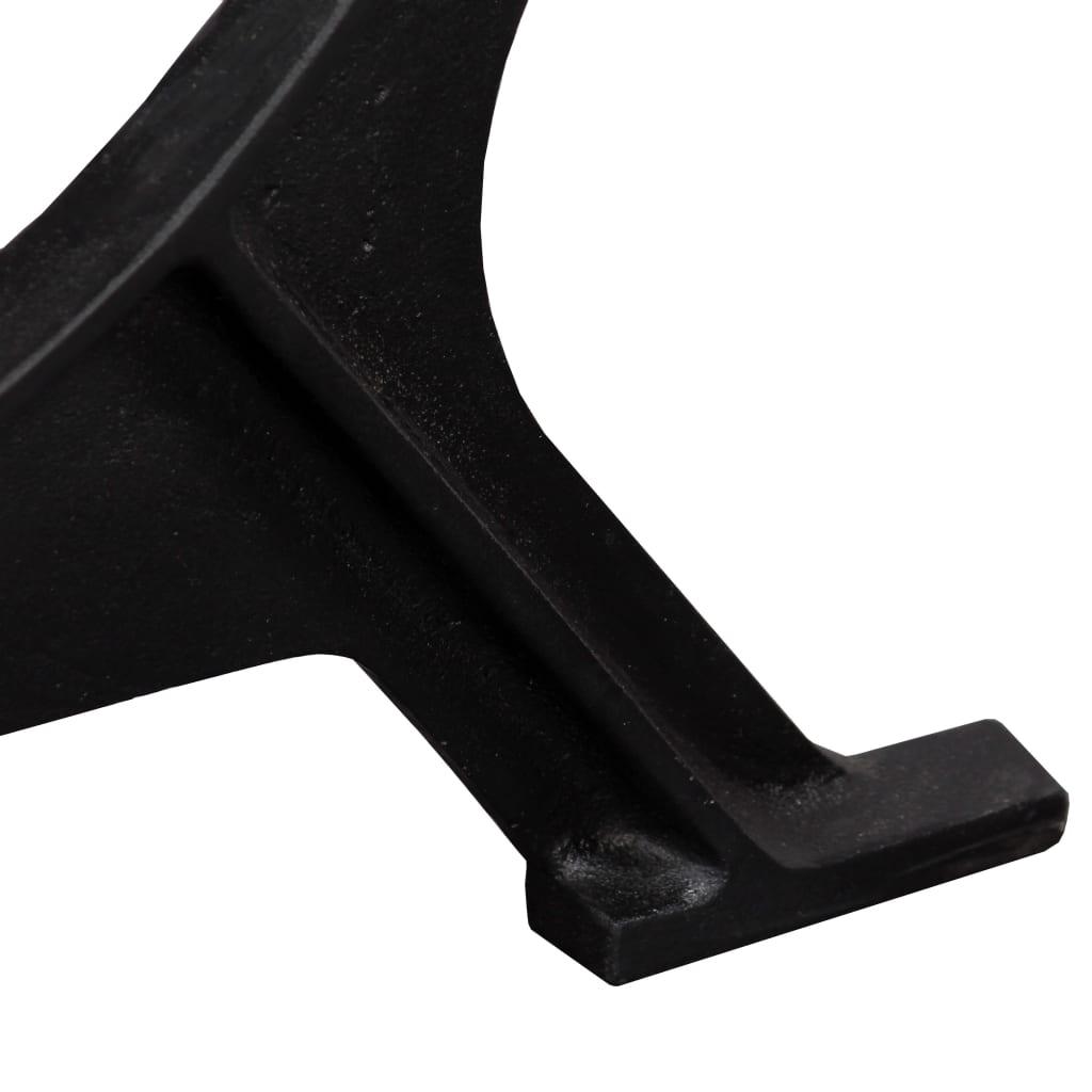 vidaXL Noge za blagovaonski stol od lijevanog željeza 2 kom u obliku O