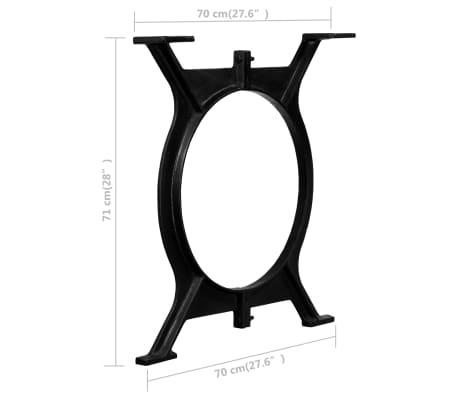 vidaXL Pied de table de salle à manger 2 pcs Cadre en O Fonte[11/11]
