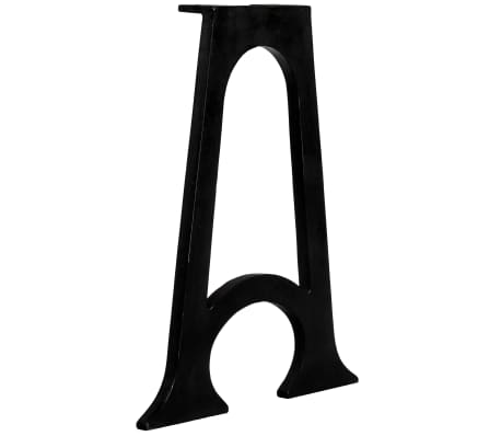 vidaXL Valgomojo stalo kojelės, arkin.pagr., 2vnt., A-formos, ketaus[4/10]