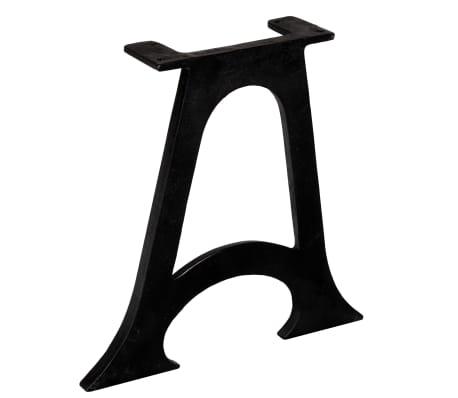 vidaXL Pied de table base 2 pcs Base voûtée Cadre en A Fonte[3/10]