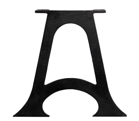 vidaXL Pied de table base 2 pcs Base voûtée Cadre en A Fonte[6/10]