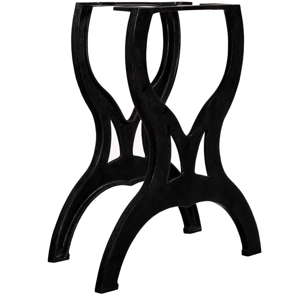 vidaXL Picioare masă de sufragerie 2 buc. Cadru în X Fontă imagine vidaxl.ro