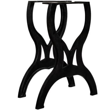 vidaXL Pied de table de salle à manger 2 pcs Cadre en X Fonte[1/11]