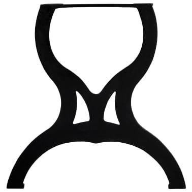 vidaXL Pied de table de salle à manger 2 pcs Cadre en X Fonte[6/11]