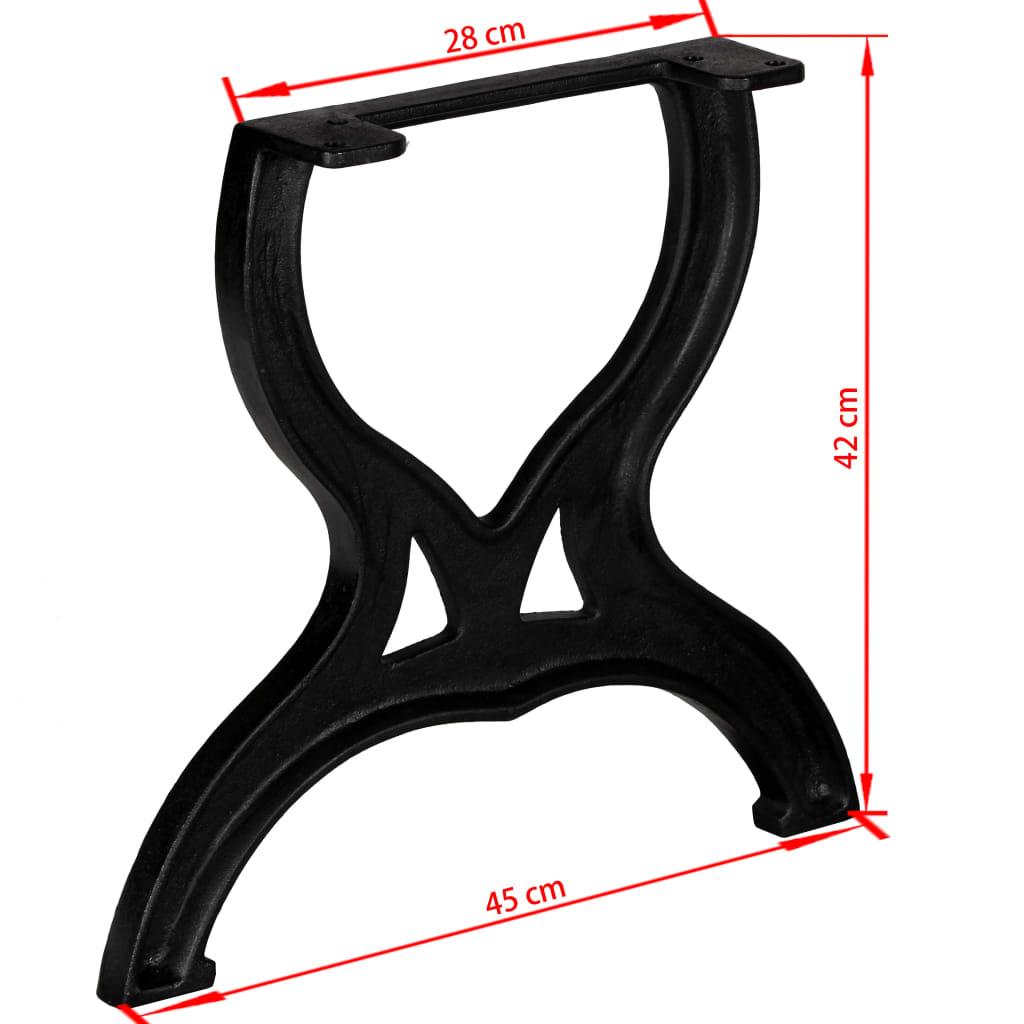 vidaXL Noge za stolić za kavu 2 kom u obliku slova X lijevano željezo