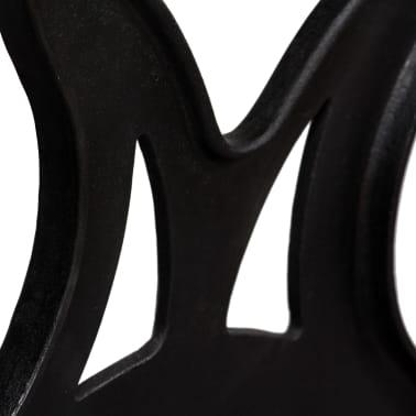 vidaXL Kavos staliuko kojelės, 2vnt., X-formos, ketaus[9/11]