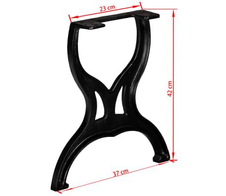vidaXL Bench Legs 2 pcs X-Frame Cast Iron[11/11]