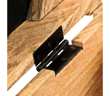 vidaXL Klupa za pohranu od prave kože i masivnog drva manga 80 x 44 x 44 cm[7/15]