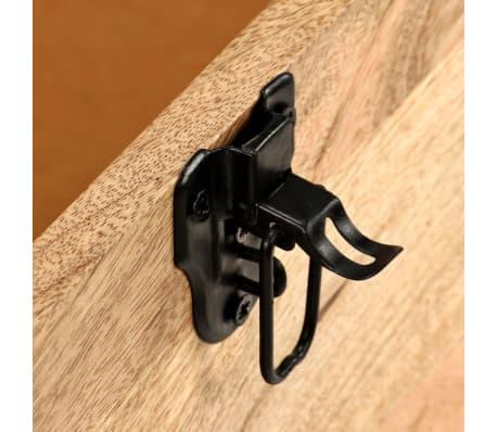 vidaXL Lavice z masivního mangového dřeva a pravé kůže 80 x 44 x 44 cm[8/15]