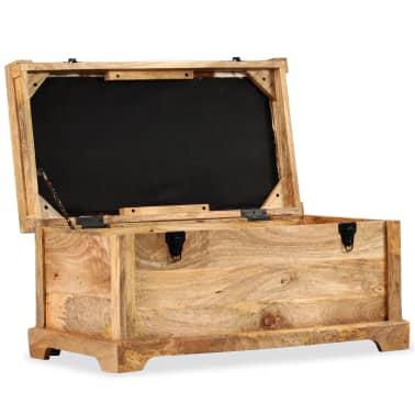 vidaXL Klupa za pohranu od prave kože i masivnog drva manga 80 x 44 x 44 cm[5/15]