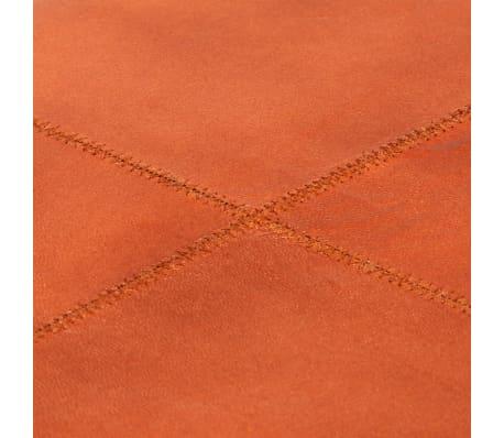 vidaXL Klupa za pohranu od prave kože i masivnog drva manga 80 x 44 x 44 cm[4/15]
