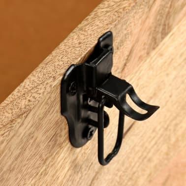 vidaXL Klupa za pohranu od prave kože i masivnog drva manga 80 x 44 x 44 cm[8/15]