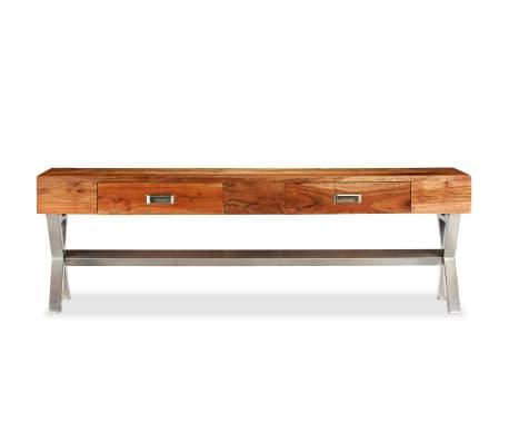 vidaXL Tv-meubel 140 cm massief acaciahout met sheesham afwerking[3/14]