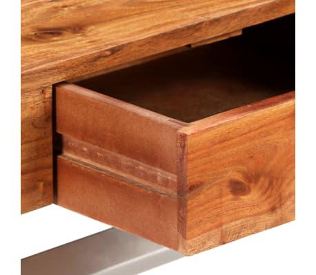 vidaXL Tv-meubel 140 cm massief acaciahout met sheesham afwerking[5/14]